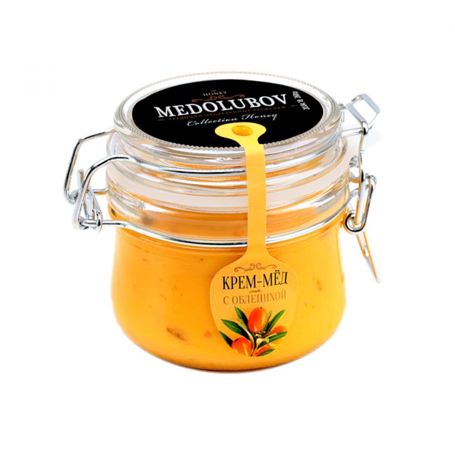 Крем-мёд Medolubov c облепихой 250мл бугель