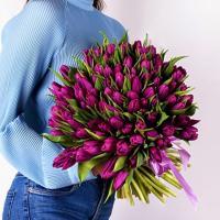 Тюльпаны 101 шт (сиреневые)